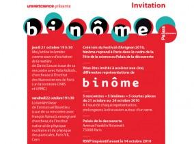 exposition binôme, conception graphique art et sciences