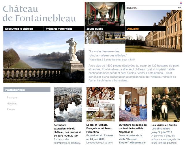 Château de Fontainebleau: site web de proteine media