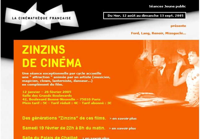 les zinzins de cinéma à la cinémathèque française
