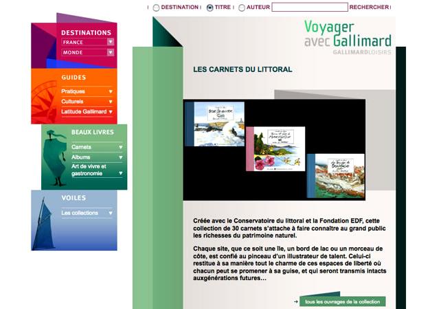site voyager gallimard