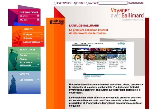 site des Guides et Beaux livres de Gallimard Loisirs.
