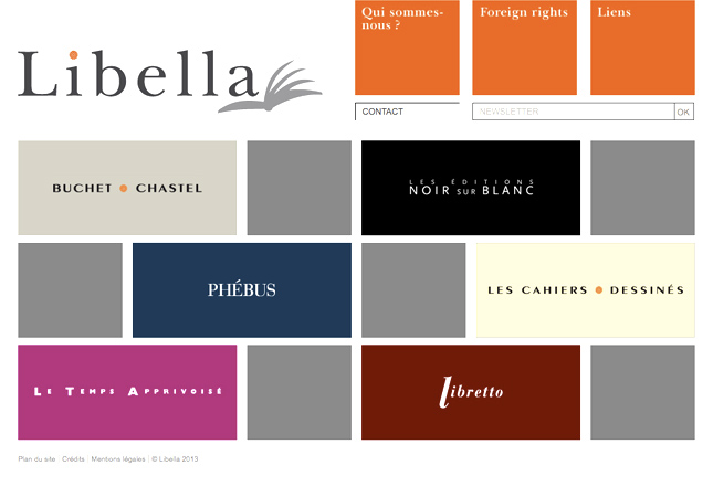 libella group, editions libella, site web pour maison d
