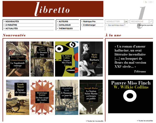 libretto, libella editions, site web maison edition