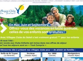 village club soleil, promotion marque via création de mailing